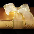 Gold foil gift - Stock Photo