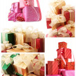 Collage of various gifts - Stock Photo