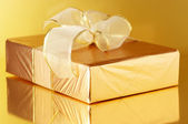 Gold foil gift — Stock Photo