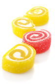 Red and yellow candy — Stock Photo