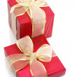 Red foil gifts — Stock Photo #4136965