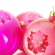 Pink Christmas balls — Stock Photo #4161890