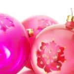 Pink Christmas balls — Stock Photo