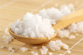 Bath salt in spoon — Stock Photo