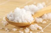 Bath salt in spoon — Stock Photo