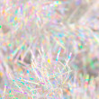 Christmas tinsel close-up - Stock Photo