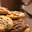 Various cookies and coffee — Stock Photo