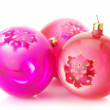 Stock Photo: Pink Christmas balls