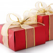Red foil gifts - Foto de Stock  