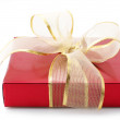 Red foil gift - Foto Stock
