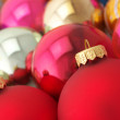 Various Christmas balls - Foto Stock