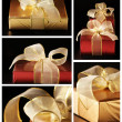 Collage of various gifts — Foto de Stock