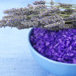 Royalty-Free Stock Photo: Bath salt and lavander
