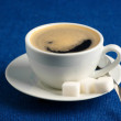 Cup of coffee and sugar - Foto Stock