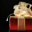 Red foil gifts - Foto Stock