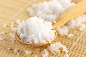 Bath salt in spoon — Foto Stock