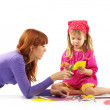 Playing mother and daughter - Foto Stock