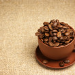 Cup with coffee beans — Stock Photo #4458156