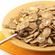 Muesli in plate - Stock Photo