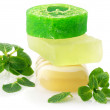 Various soap and mint — Stock Photo #4743885