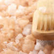 Bath salt and brush — Stock Photo #4783869
