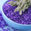 Bath salt and lavander — Stock Photo #4817794