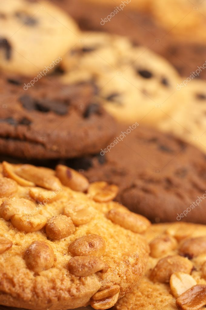Assorted cookies in rows, full frame. — Stock Photo #4817831