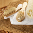 SPA accessories on basket — Foto de Stock