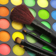 Eye shadows palette and brushes — Stock Photo #4872008