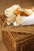 SPA accessories on basket — Stock Photo