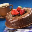 Royalty-Free Stock Photo: Homemade chocolate cake and coffee