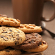 Stock Photo: Various cookies and coffee