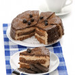 Homemade chocolate cake and coffee - Stock Photo