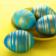 Blue Easter eggs - Stock Photo