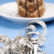 Cake and fork in measuring tape - Foto de Stock