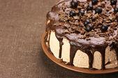 Pastel de chocolate casero — Foto de Stock