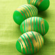 Stock Photo: Green Easter eggs