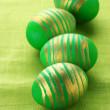 Green Easter eggs — Stock Photo #5241759