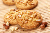 Cookies with nuts — 图库照片