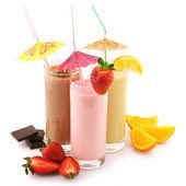 различных белковых коктейлей — Стоковое фото