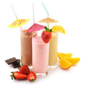 Various protein cocktails — Foto Stock