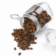 Coffee beans in jar - 图库照片
