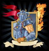 Knight in armor — Stock Vector
