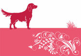 Baner with dog — Stock Vector
