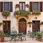 Italian trattoria (tavern), Pienza, Tuscany, Italy — Stock Photo #3961251