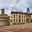 PiazzGrande square in Arezzo, Tuscany, Italy — Stock Photo #3961385