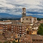 Panoramic view of Prugia, Umbria, Italy — Stock Photo
