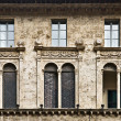 Perugia windows, Umbria, Italy — Stock Photo