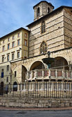 Fontana Maggiore next to the Duomo (Cathedral), Perugia, Umbria, Italy — ストック写真