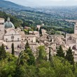 Stock Photo: View of Assisi Cathedral of SRufino and Basilicdi SantChiara, Umbria